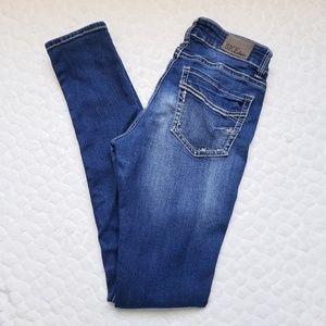 Buckle BKE Sabrina skinny jeans dark wash 28 Long
